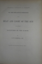 Meech, L.W. On the Relative Intensity of the Heat and Light of the Sun Upon Diff