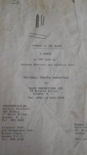 Playscript Used by Hal Orlandini
