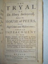 Trial of Sacheverell, 1710