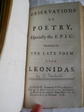 Observations On Poetry, by Henry Pemberton, 1738