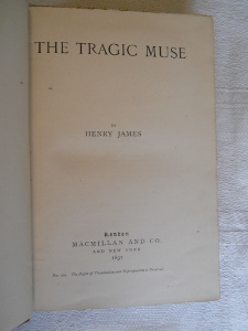 Henry James The Tragic Muse, 2nd edition