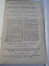 Dictionary Of Husbandry, Gardening etc. 1765