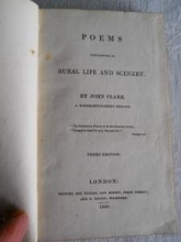 John Clare  Title page of 3rd edition of Poems